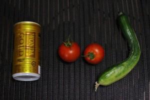 2015.7.21 キュウリ・トマト 収穫