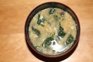 小松菜のみそ汁